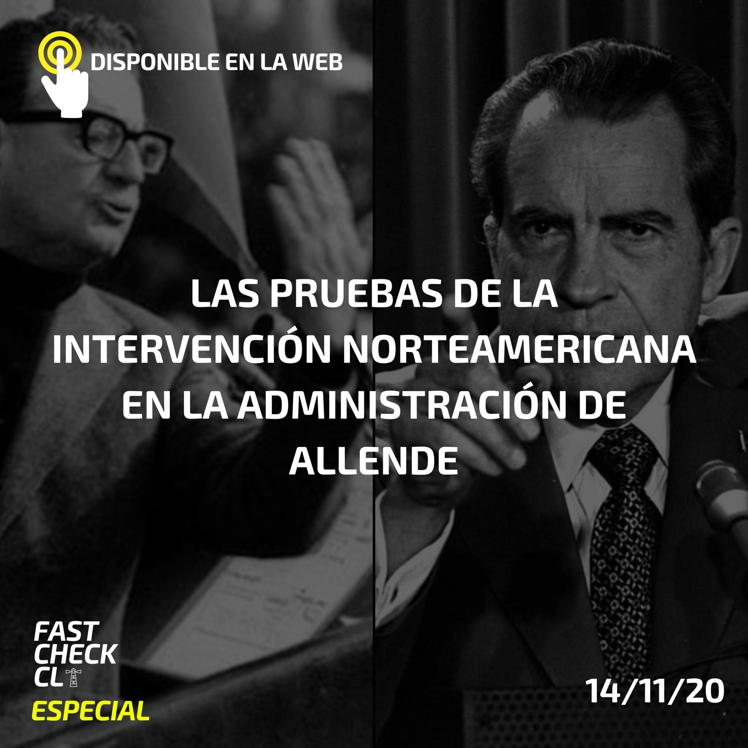 You are currently viewing Las pruebas de la intervención norteamericana en la administración de Allende