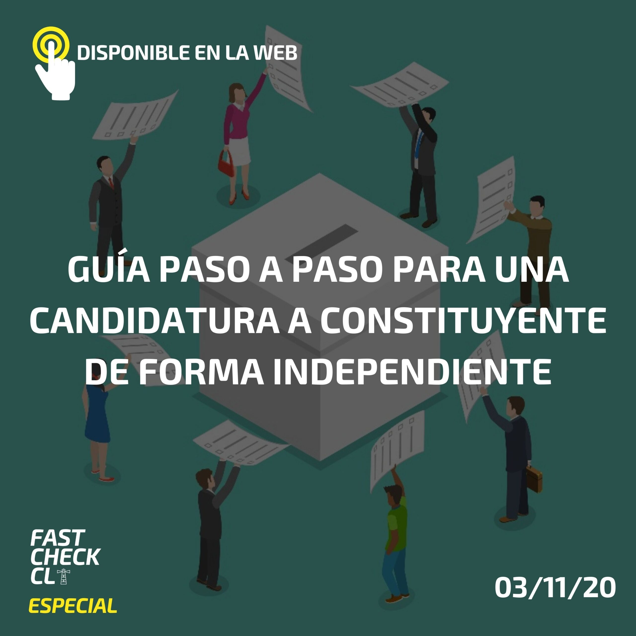 Guía paso a paso para una candidatura a constituyente de forma independiente