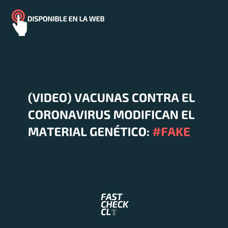 (Video) Vacunas contra el coronavirus modifican el material genético: #Fake
