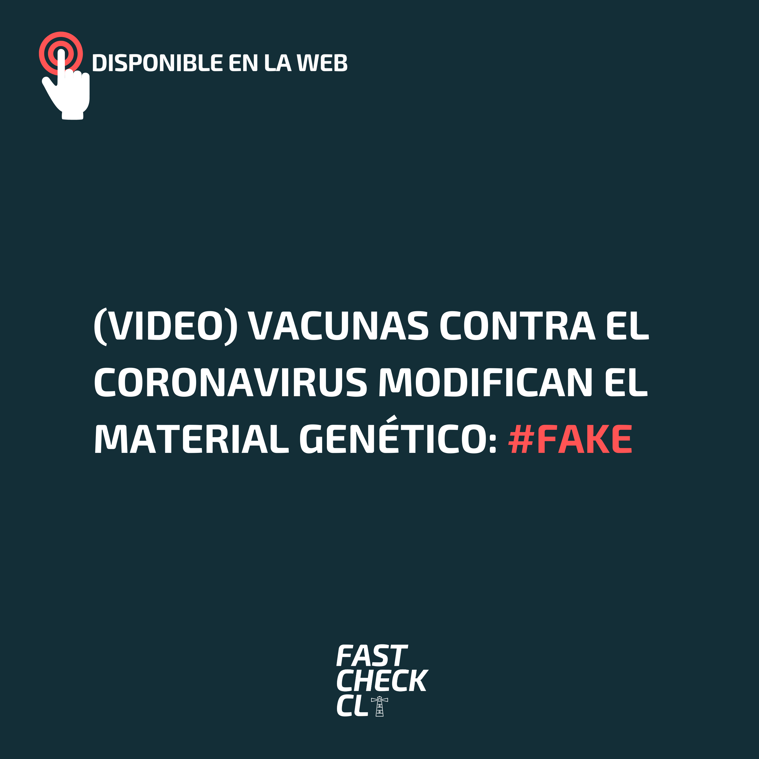 (Video) Vacunas contra el coronavirus modifican el material genético: #Fake