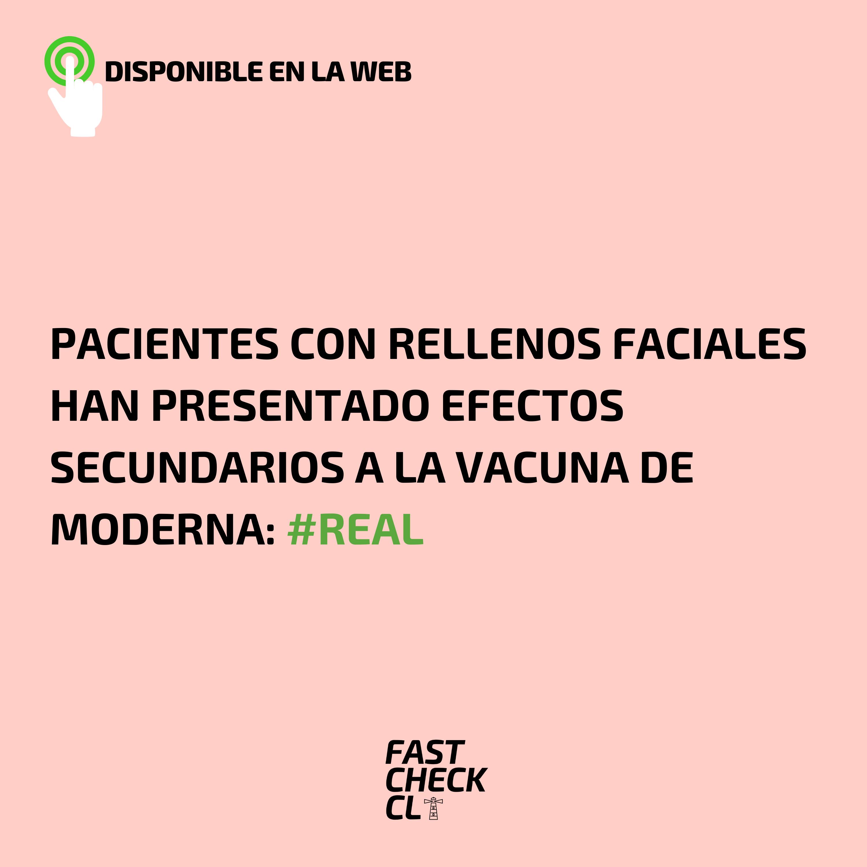 Pacientes con rellenos faciales han presentado efectos secundarios a la vacuna de Moderna: #Real