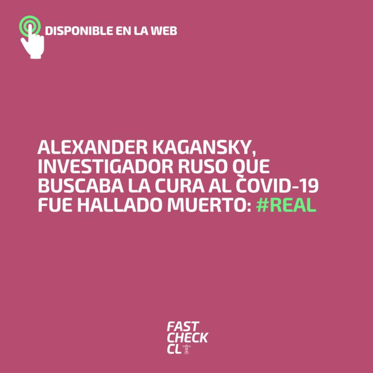 Alexander Kagansky, investigador ruso que buscaba la cura al Covid-19 fue hallado muerto: #Real