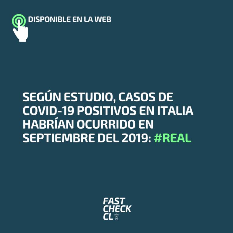 Según estudio, casos de Covid-19 positivos en Italia habrían ocurrido en septiembre del 2019: #Real