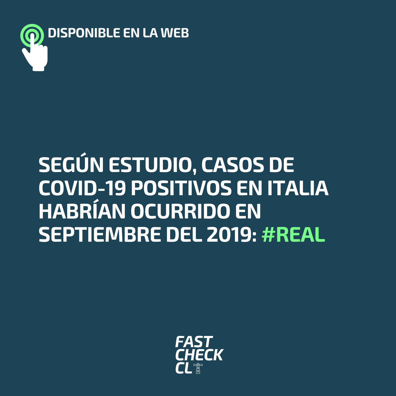 Read more about the article Según estudio, casos de Covid-19 positivos en Italia habrían ocurrido en septiembre del 2019: #Real