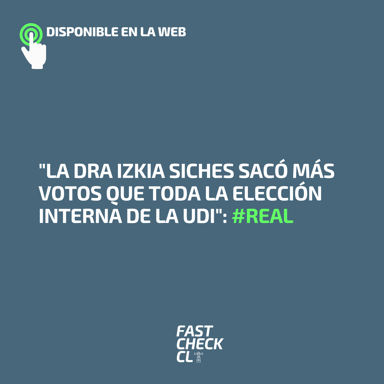"""""""La Dra Izkia Siches sacó más votos que toda la elección interna de la UDI"""": #Real"""