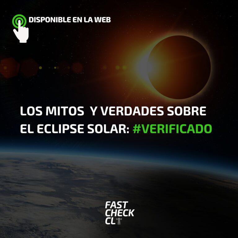 Los Mitos sobre el eclipse solar: #Verificado