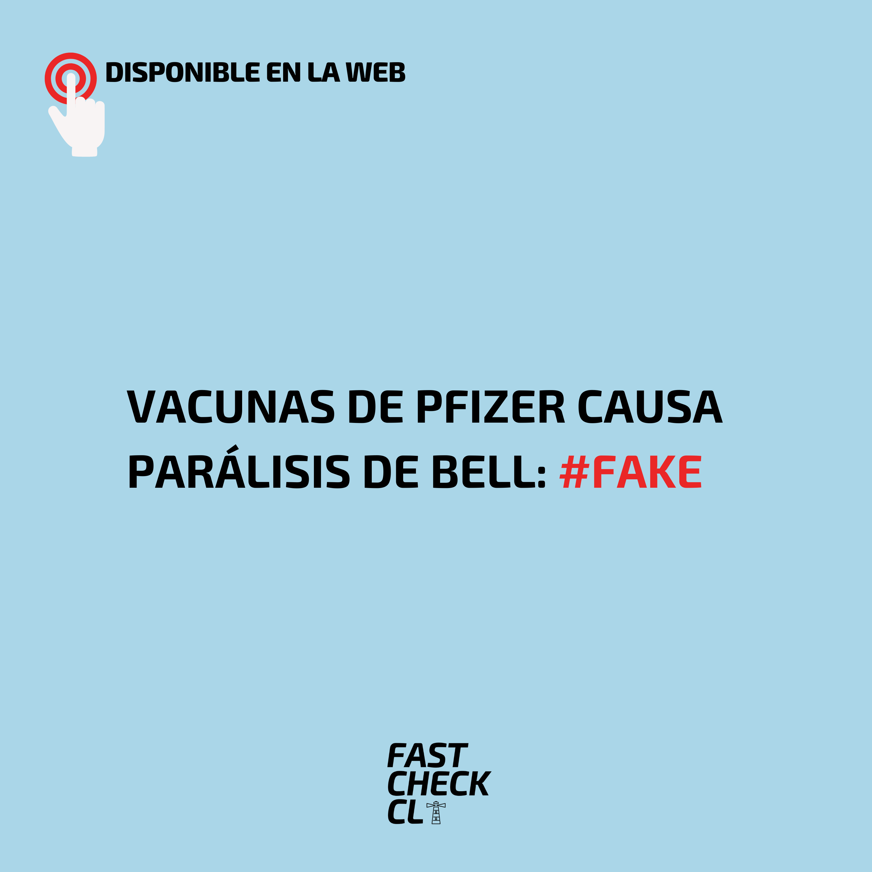 Vacunas de Pfizer causa Parálisis de Bell: #Fake