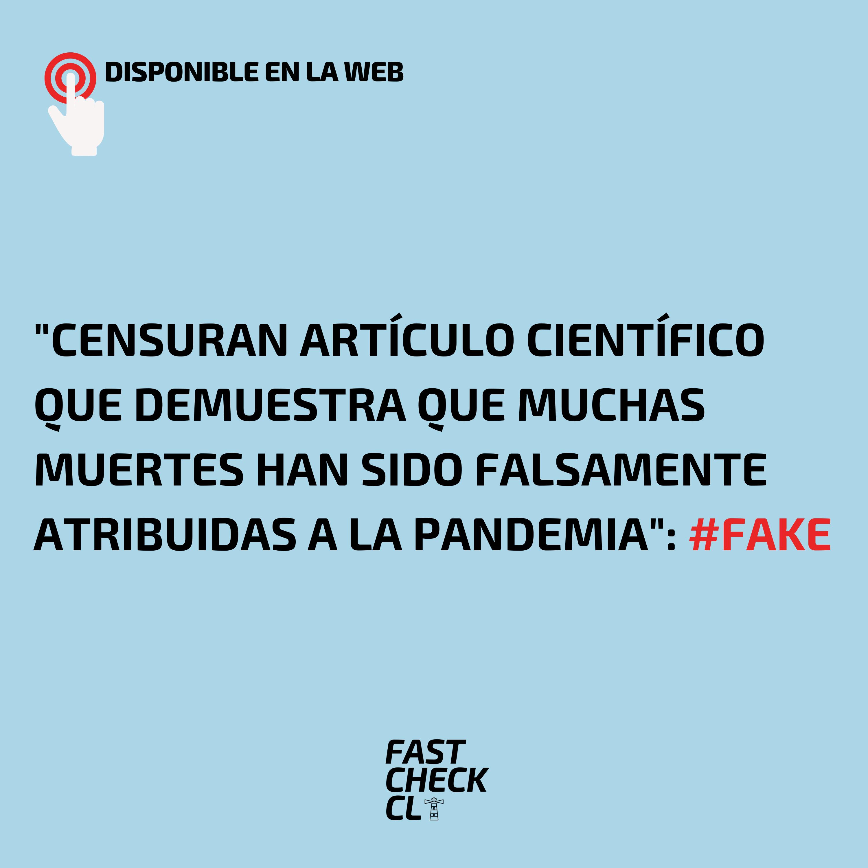"""You are currently viewing """"Censuran artículo científico que demuestra que muchas muertes han sido falsamente atribuidas a la Pandemia"""": #Fake"""