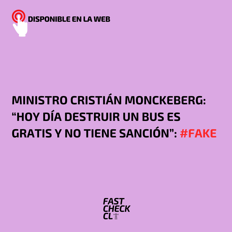"""Read more about the article """"Hoy día destruir un bus es gratis y no tiene sanción"""": #Fake"""