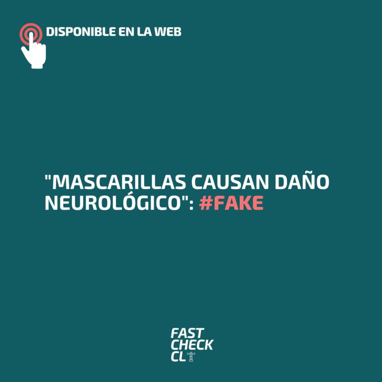 """""""Mascarillas causan daño neurológico"""": #Fake"""