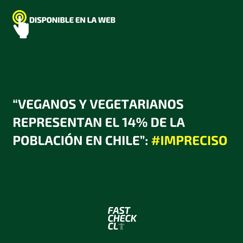 """""""Veganos y vegetarianos representan el 14% de la población en Chile"""": #Impreciso"""