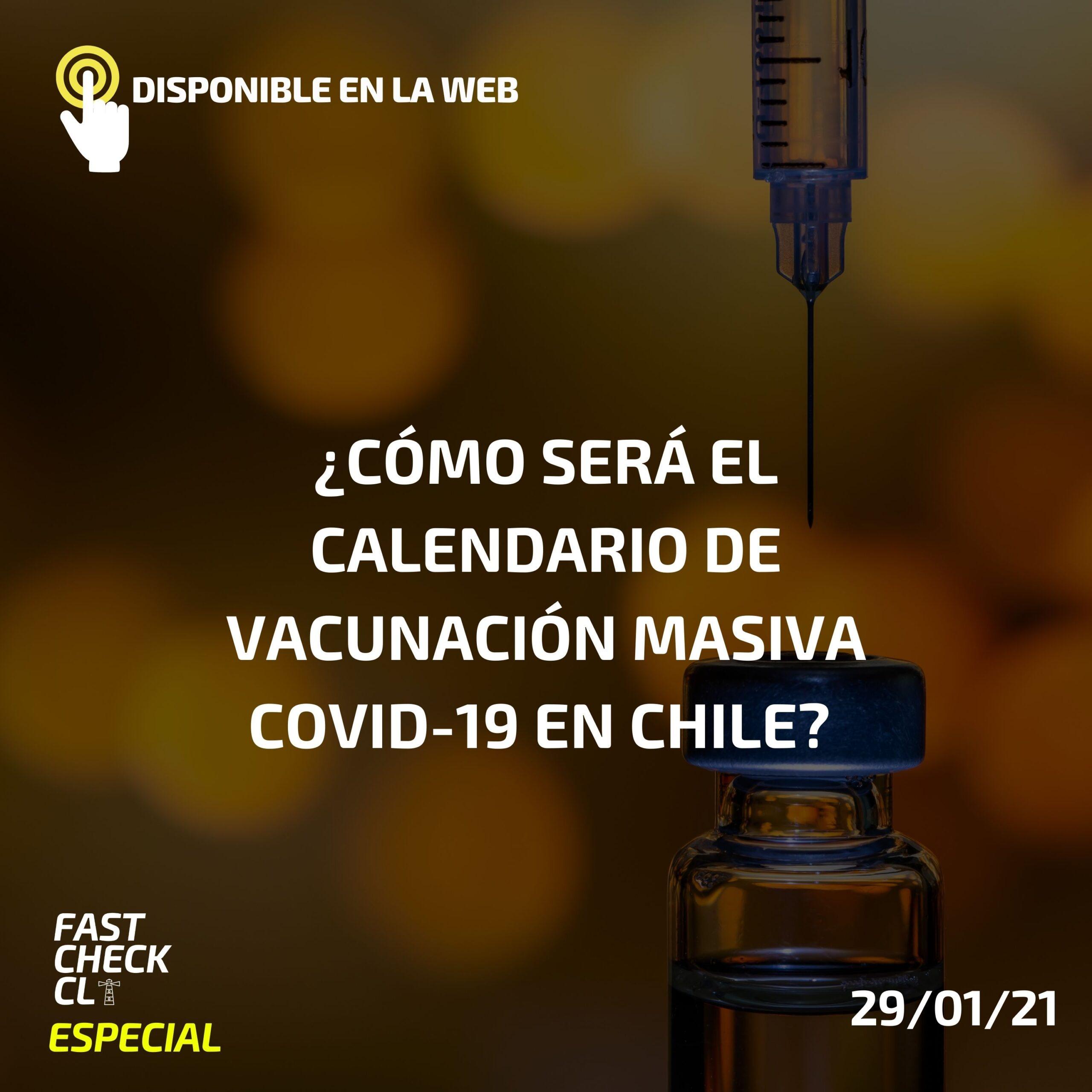 ¿Cómo será el calendario de vacunación masiva Covid-19 en Chile? Claves para entender el proceso
