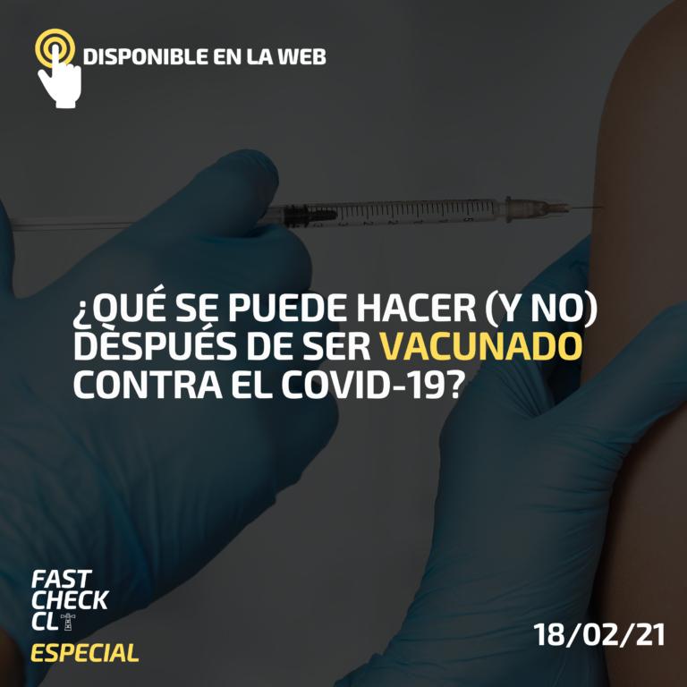 ¿Qué se puede hacer (y no) después de ser vacunado contra el Covid-19?