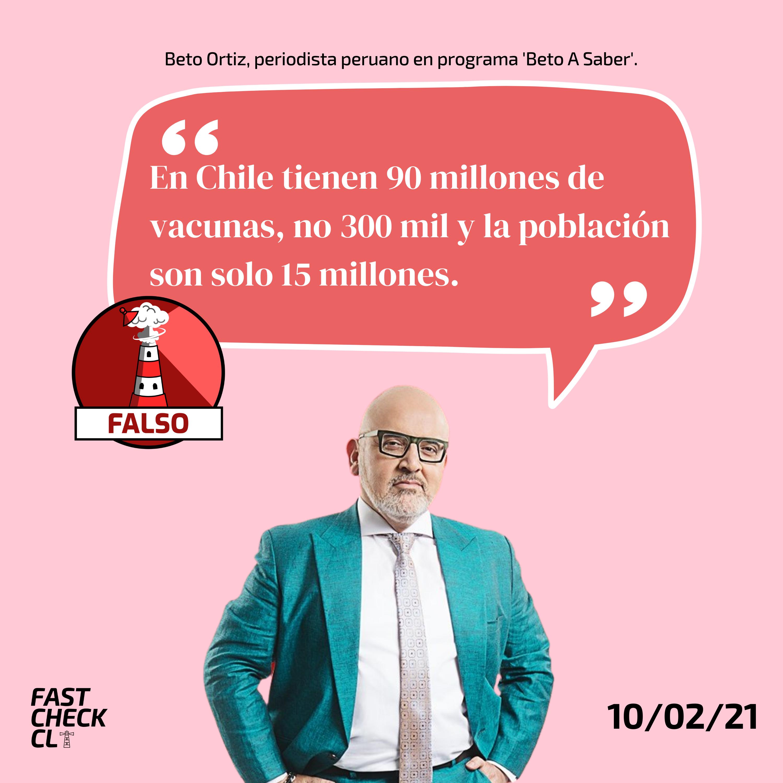 """You are currently viewing """"En Chile tienen 90 millones de vacunas, no 300 mil y la población son solo 15 millones"""": #Falso"""