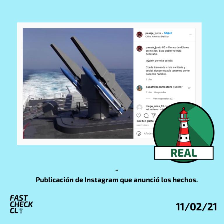 Estados Unidos aprobó venta de misiles a Chile en 85 millones de dólares: #Real