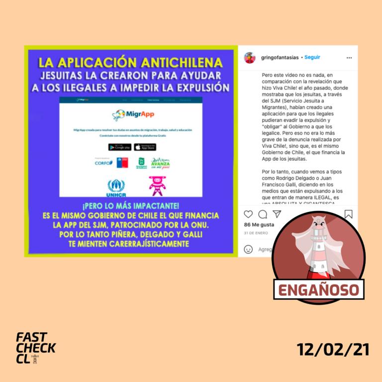 """Read more about the article """"La aplicación antichilena: Jesuitas la crearon para ayudar a los ilegales a impedir la expulsión"""": #Engañoso"""