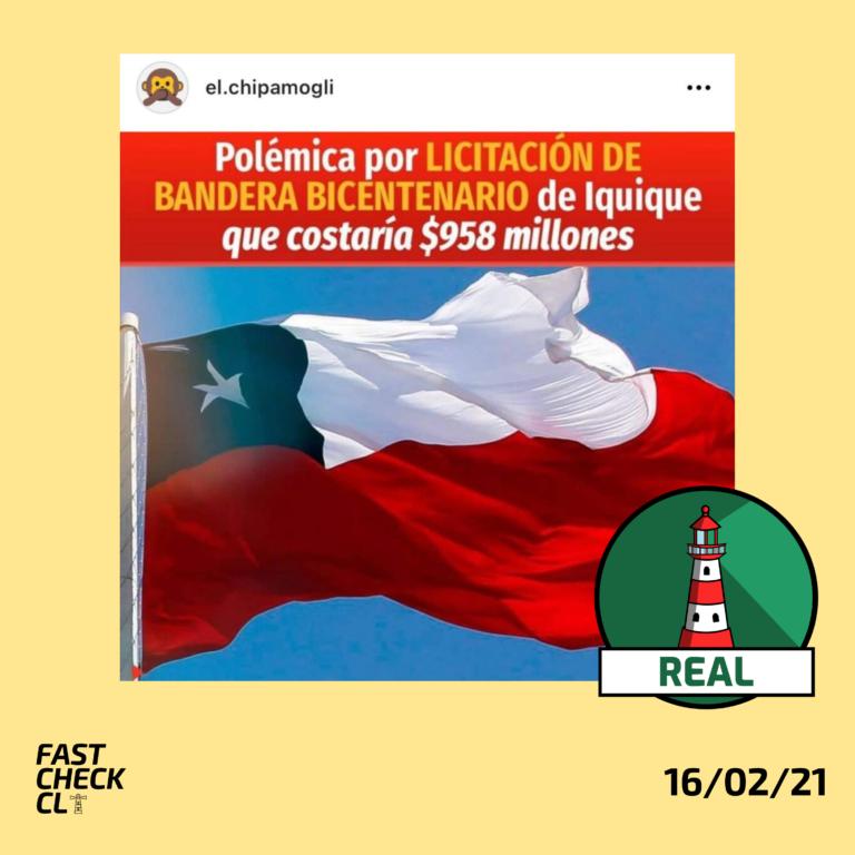 Licitación de Bandera Bicentenario de Iquique costaría $958 millones: #Real