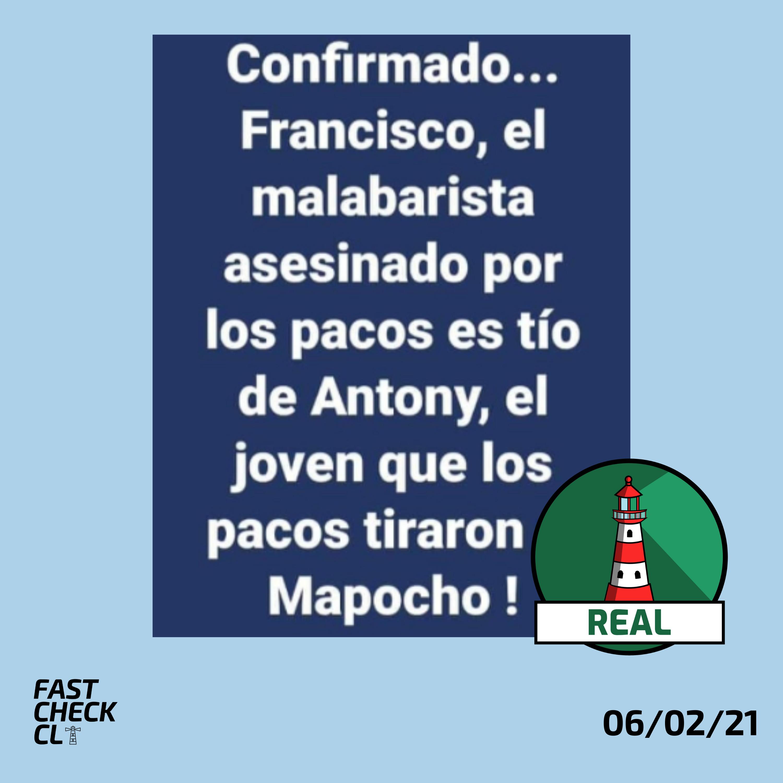 Malabarista baleado en Panguipulli era tío del joven que empujaron del puente Pío Nono: #Real