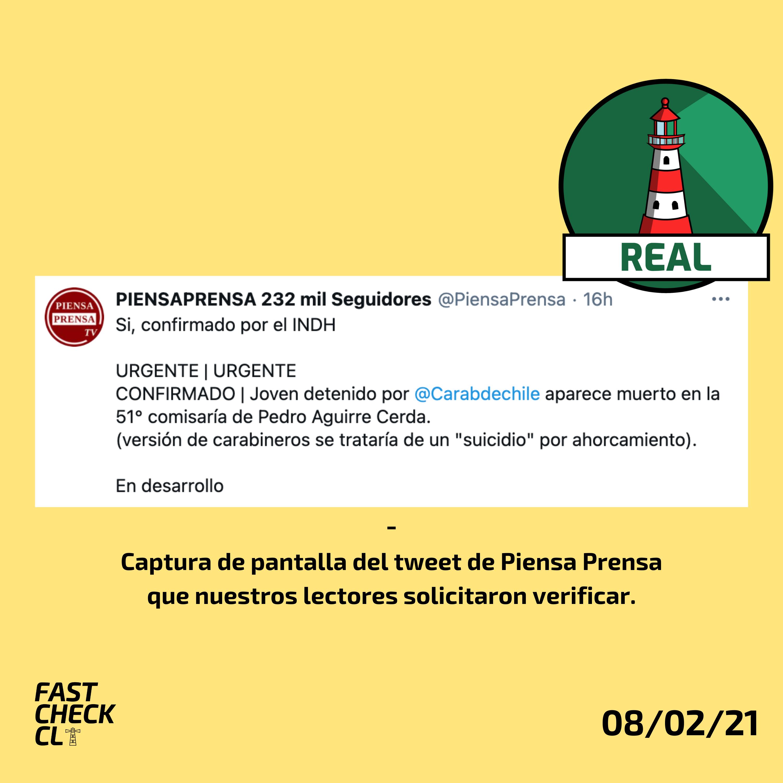Joven es encontrado muerto en calabozo de Comisaría 51º de Pedro Aguirre Cerda: #Real