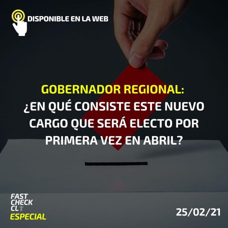 Gobernador Regional: ¿En qué consiste este nuevo cargo que será electo por primera vez en abril?