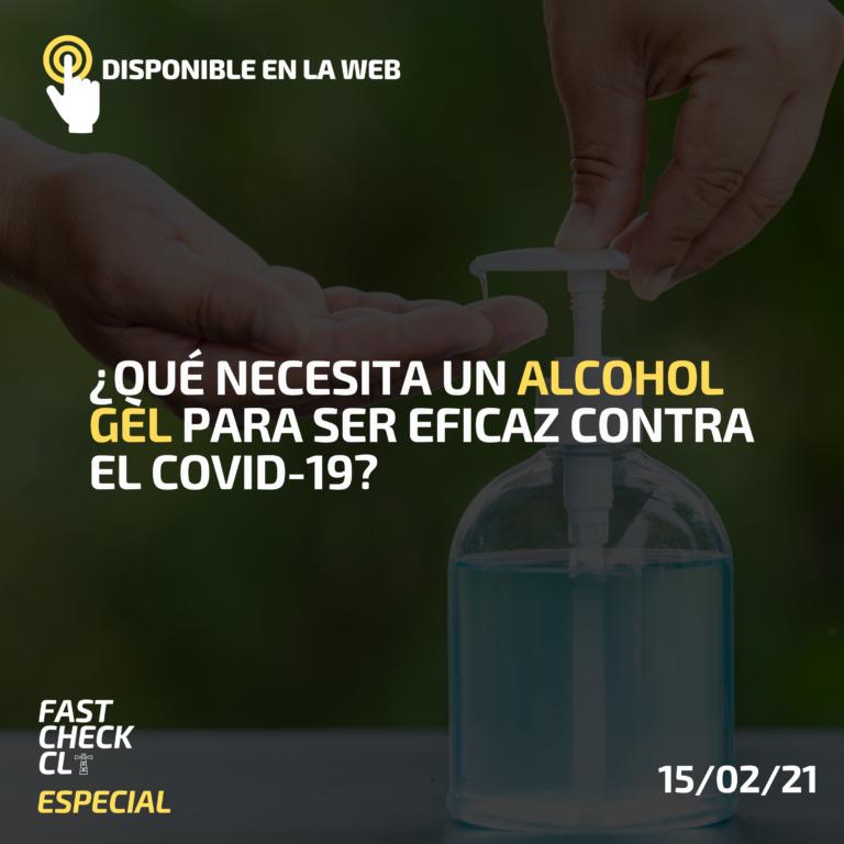 Read more about the article ¿Qué necesita un alcohol gel para ser eficaz contra el Covid-19?