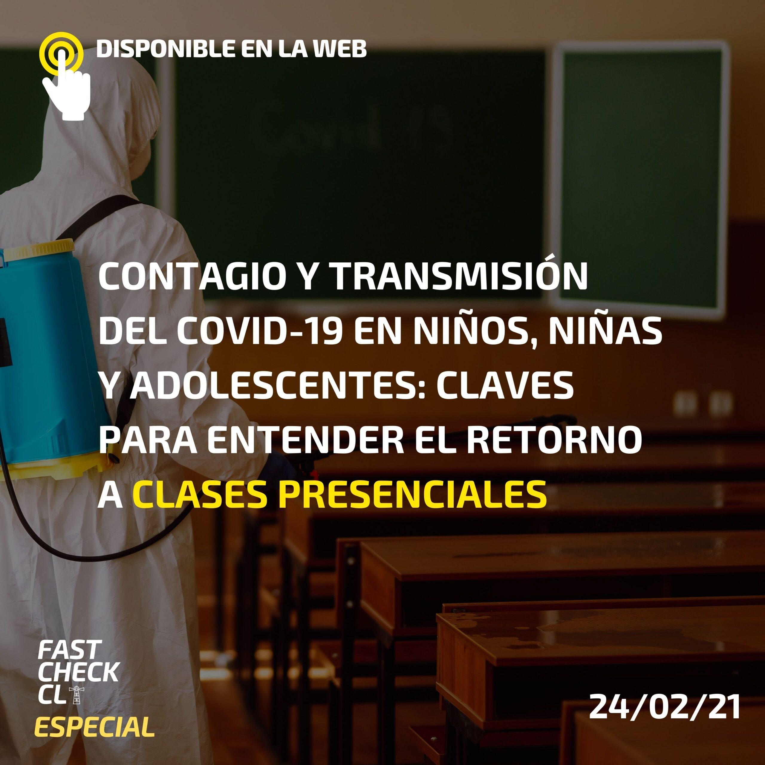Contagio y transmisión del COVID-19 en niños, niñas y adolescentes: Claves para entender el retorno a clases presenciales