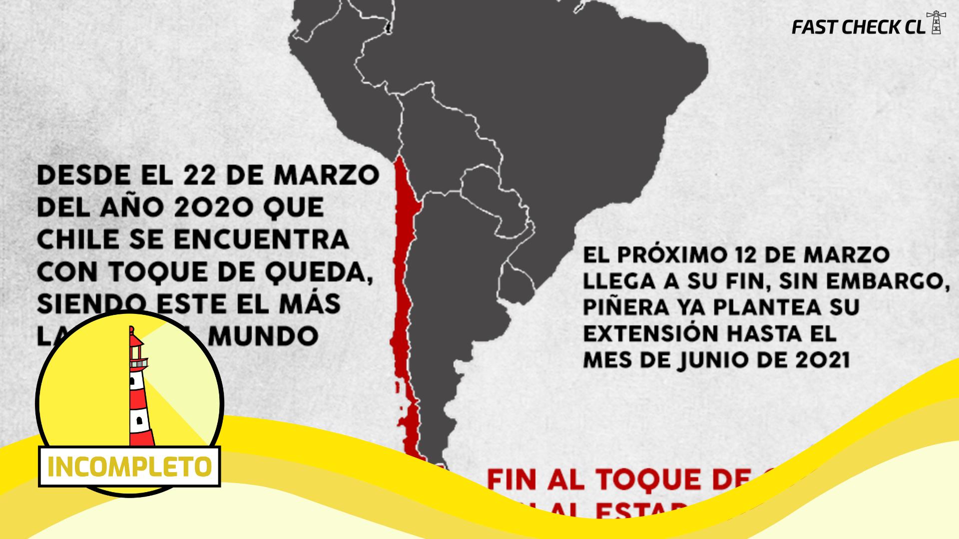 """(Imagen) """"En rojo los países con el toque de queda más largo del mundo"""": #Incompleto"""