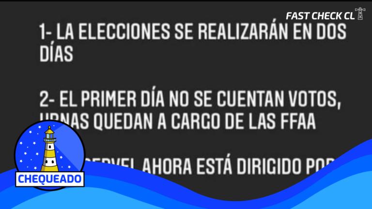 """(Imagen) Cuatro afirmaciones en redes sociales sobre las próximas elecciones y el Servel, """"¿Qué puede salir mal""""?: #Chequeado"""