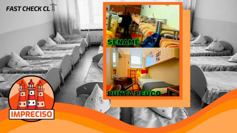 Imagen comparativa de penal Punta Peuco y el Sename: #Imprecisa