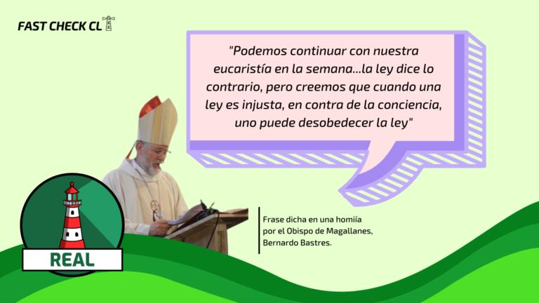 """Obispo Bernardo Bastres: """"Podemos continuar con nuestra eucaristía en la semana…la ley dice lo contrario, pero creemos que cuando una ley es injusta, en contra de la conciencia, uno puede desobedecer la ley"""": #Real"""