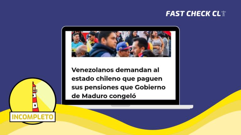 Read more about the article Venezolanos demandan al Estado chileno que paguen sus pensiones que Gobierno de Maduro congeló: #Incompleto