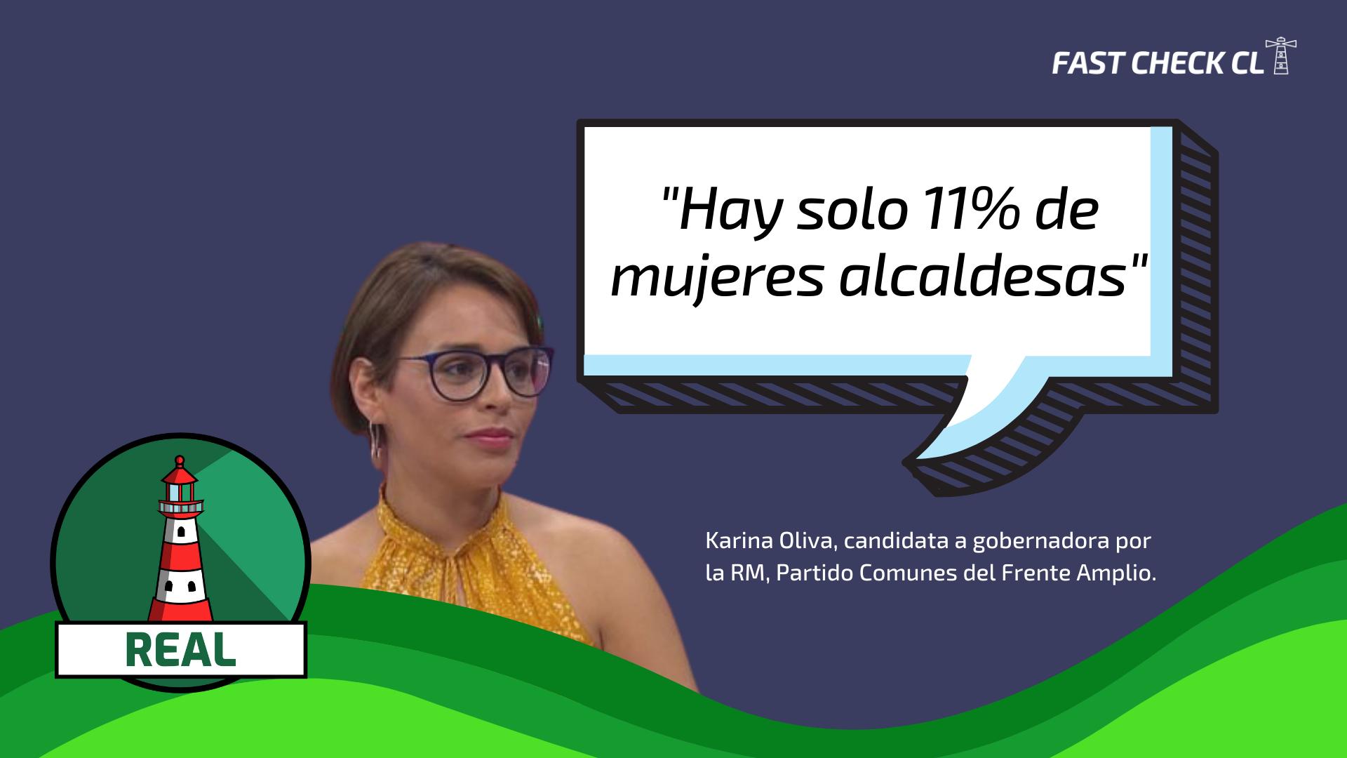 Candidata a gobernadora por FA, Karina Oliva: «Hay solo 11% de mujeres alcaldesas»: #Real