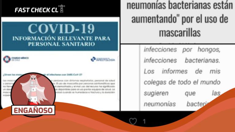 Read more about the article (Imagen) Colegio Médico recomienda que personas asintomáticas no utilicen mascarilla: #Engañoso