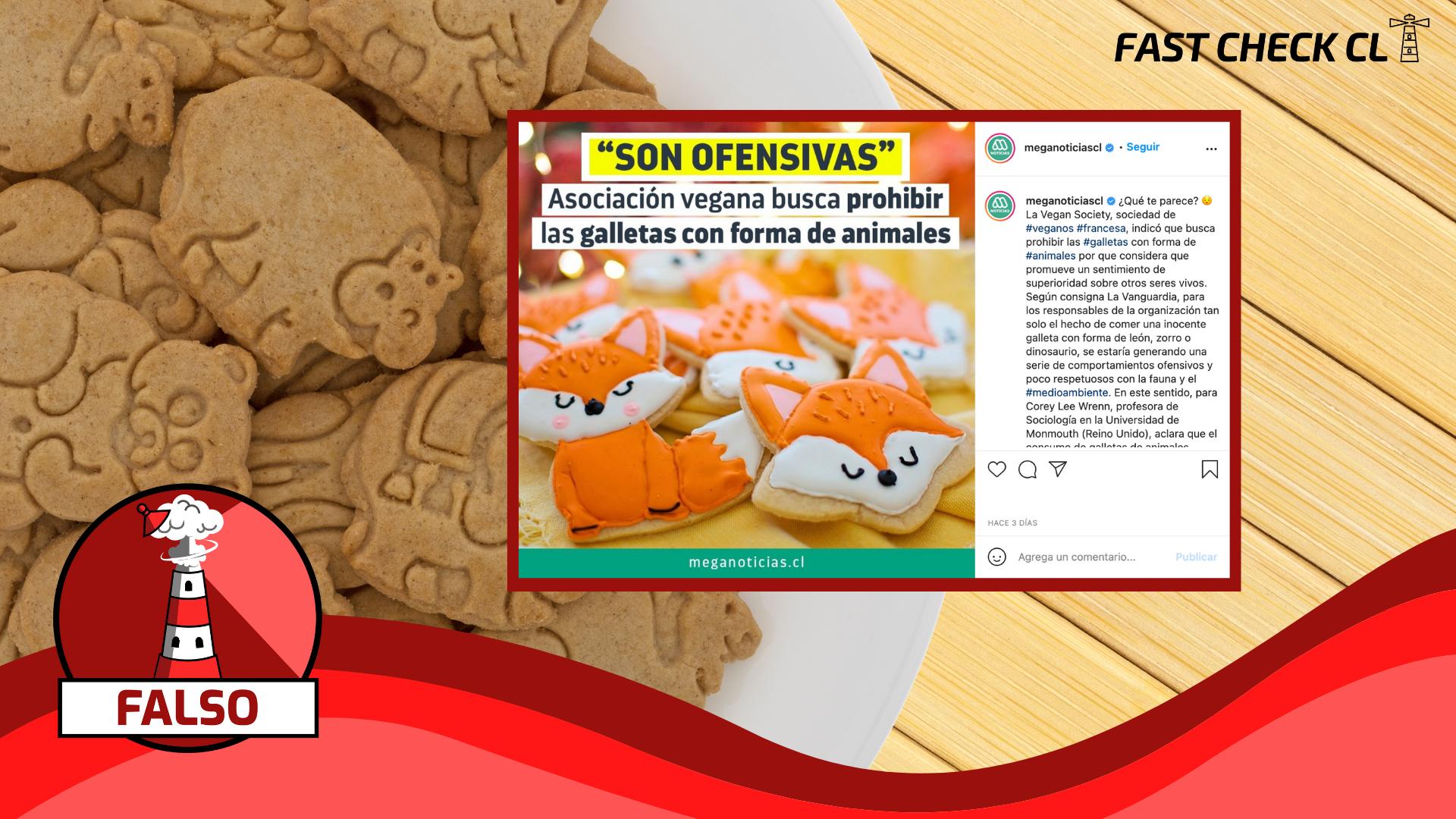 """""""Asociación vegana busca prohibir galletas con forma de animales"""": #Falso"""