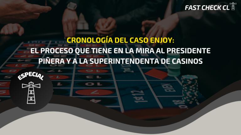 Read more about the article Cronología del Caso Enjoy: el proceso que tiene en la mira al Presidente Piñera y a la superintendenta de Casinos