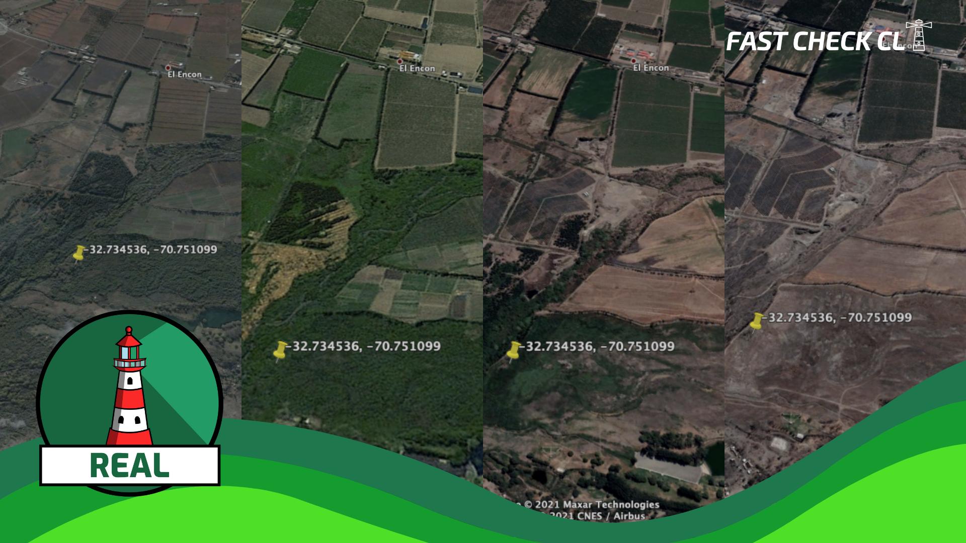 (Imagen) Fotos comparativas de Google Maps muestran sequía en algunos sectores de San Felipe: #Real