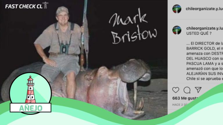 (Foto) Dueño de la minera Barrick Gold,  Mark Bristow, cazando hipopótamo: #Añejo