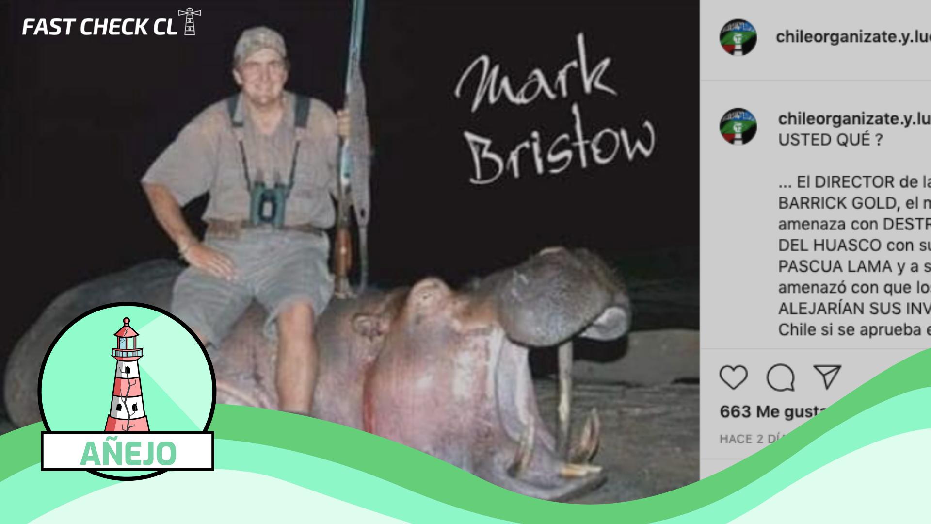 Read more about the article (Foto) Dueño de la minera Barrick Gold,  Mark Bristow, cazando hipopótamo: #Añejo