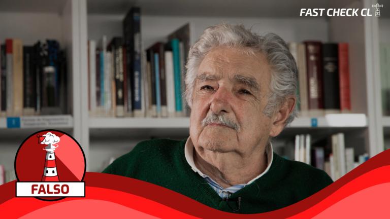 """Pepe Mujica: """"Chile sería uno de los mejores países para vivir y una potencia económica mundial, si sus ciudadanos se unieran y destituyeran a los políticos que los han robado por años"""": #Falso"""