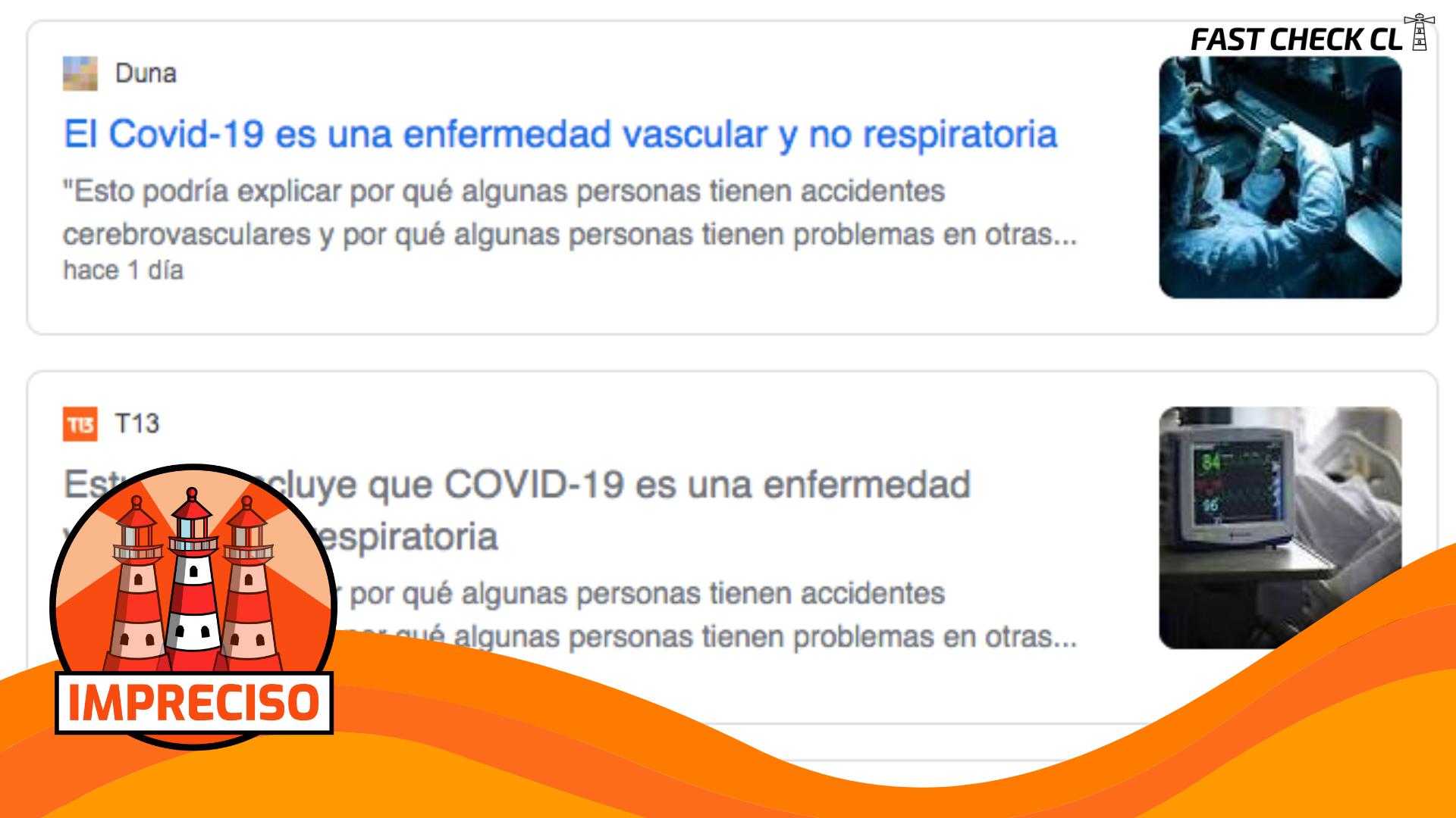 """""""El Covid-19 es una enfermedad vascular y no respiratoria"""": #Impreciso"""