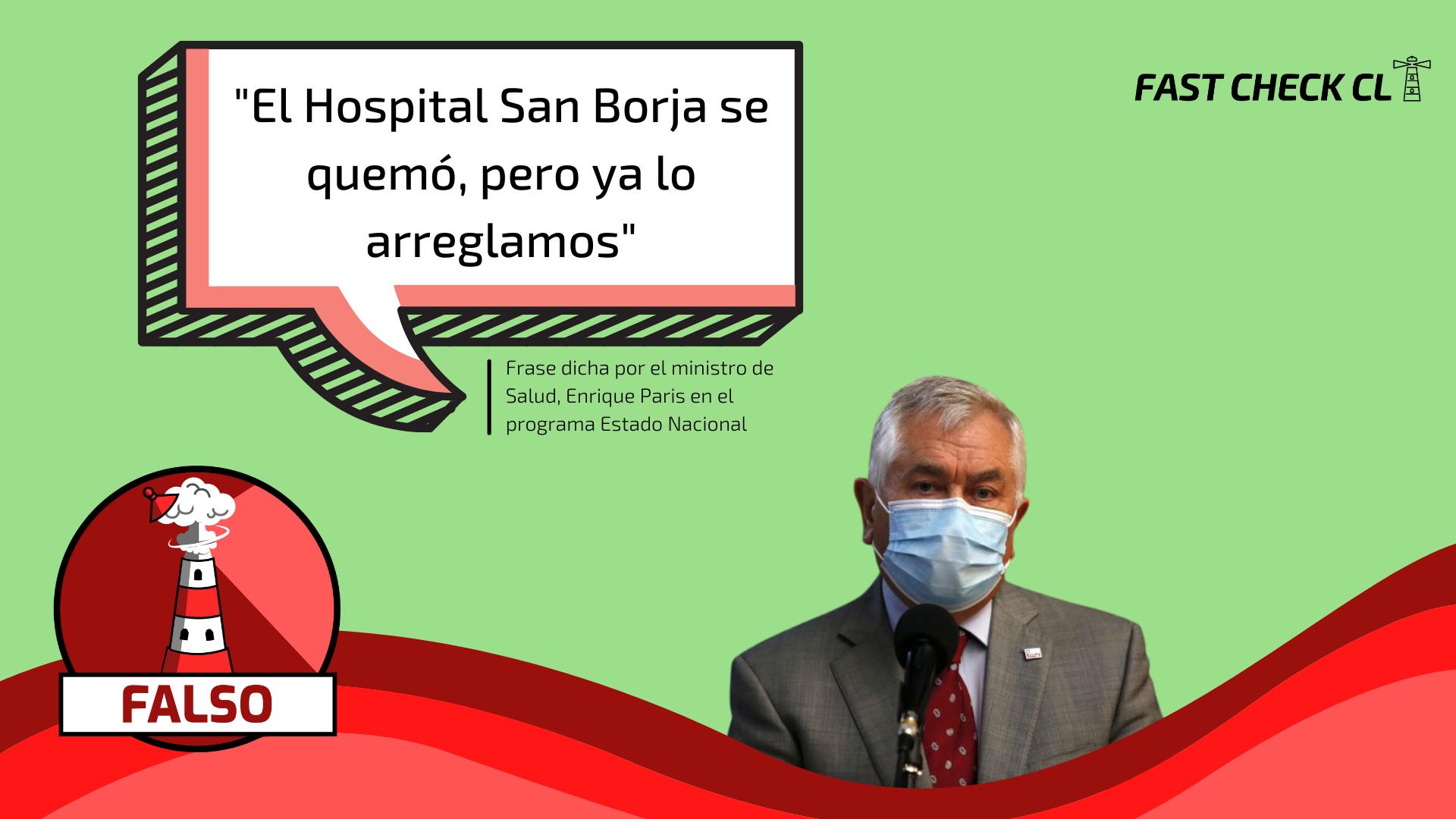 "Read more about the article ""El Hospital San Borja se quemó, pero ya lo arreglamos"": #Falso"