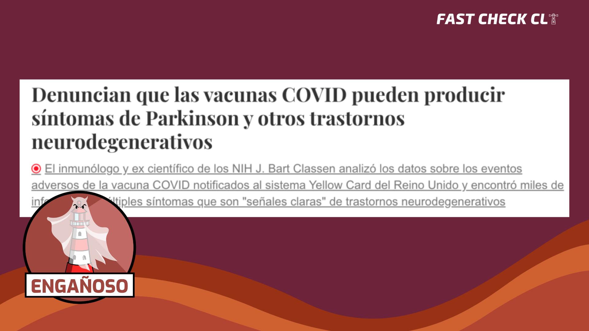 Read more about the article Las vacunas Covid-19 pueden producir síntomas de Parkinson y otros trastornos neurodegenerativos: #Engañoso
