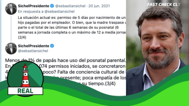 """Read more about the article Sebastián Sichel: """"Menos de 1% de papás hace uso del postnatal parental. En 2021, de 20.074 permisos iniciados, se concretaron 42"""": #Real"""
