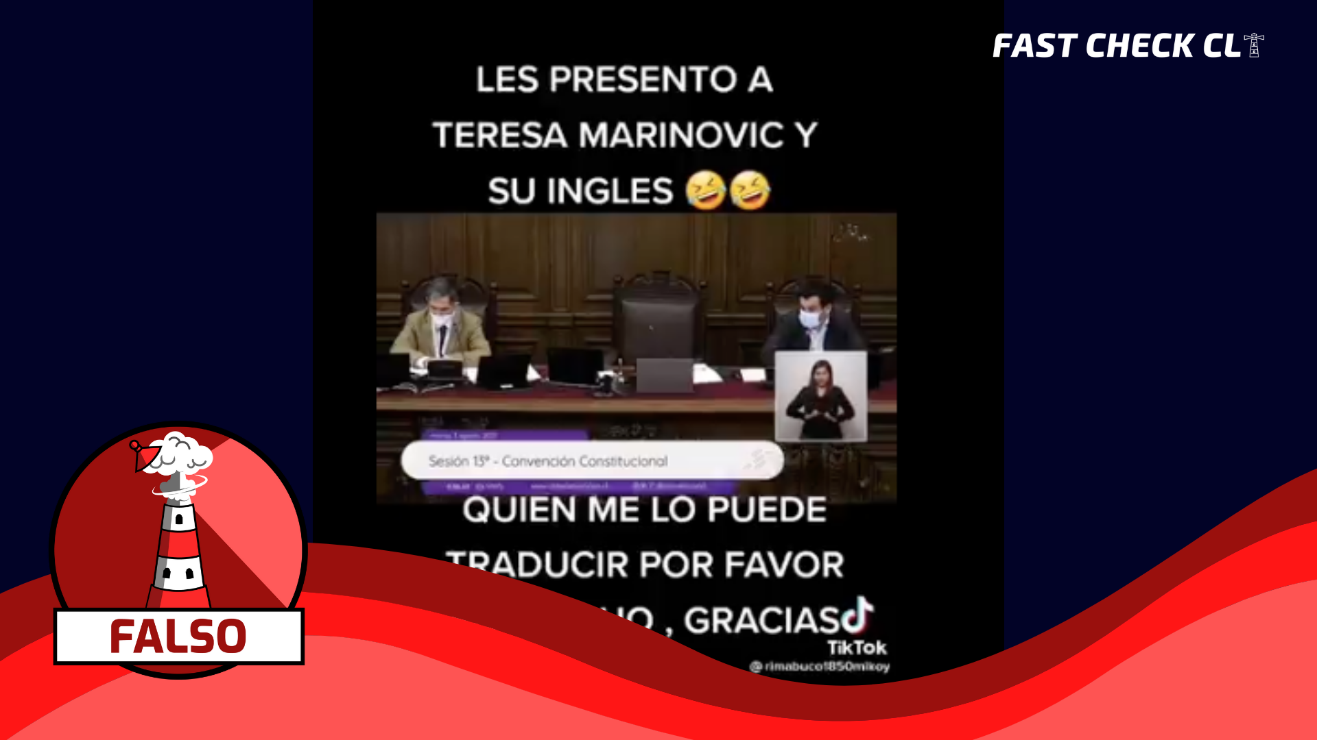 Read more about the article (Video) Constituyente Teresa Marinovic hablando inglés en el hemiciclo de la Convención: #Falso