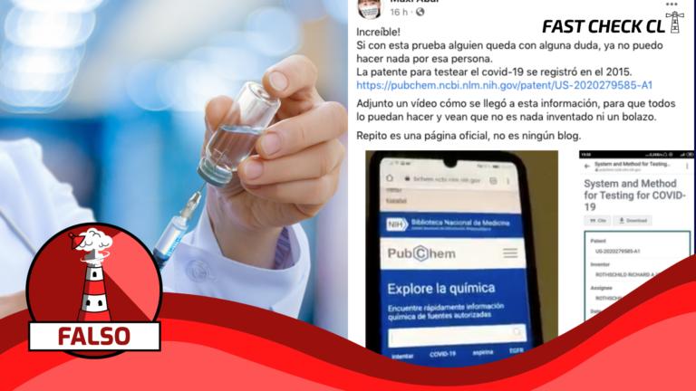 "Read more about the article ""La patente para testear el Covid-19 se registró en 2015"": #Falso"