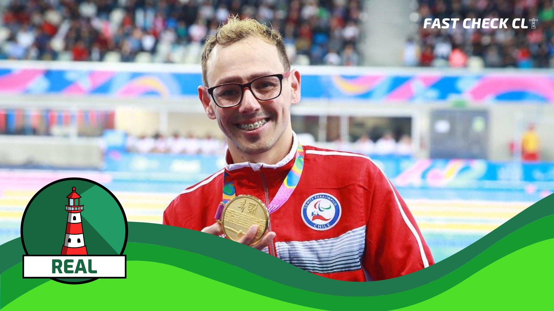 """Read more about the article """"Alberto Abarza es campeón paralímpico de natación en Tokio 2020, aprendió a nadar en la Teletón"""": #Real"""