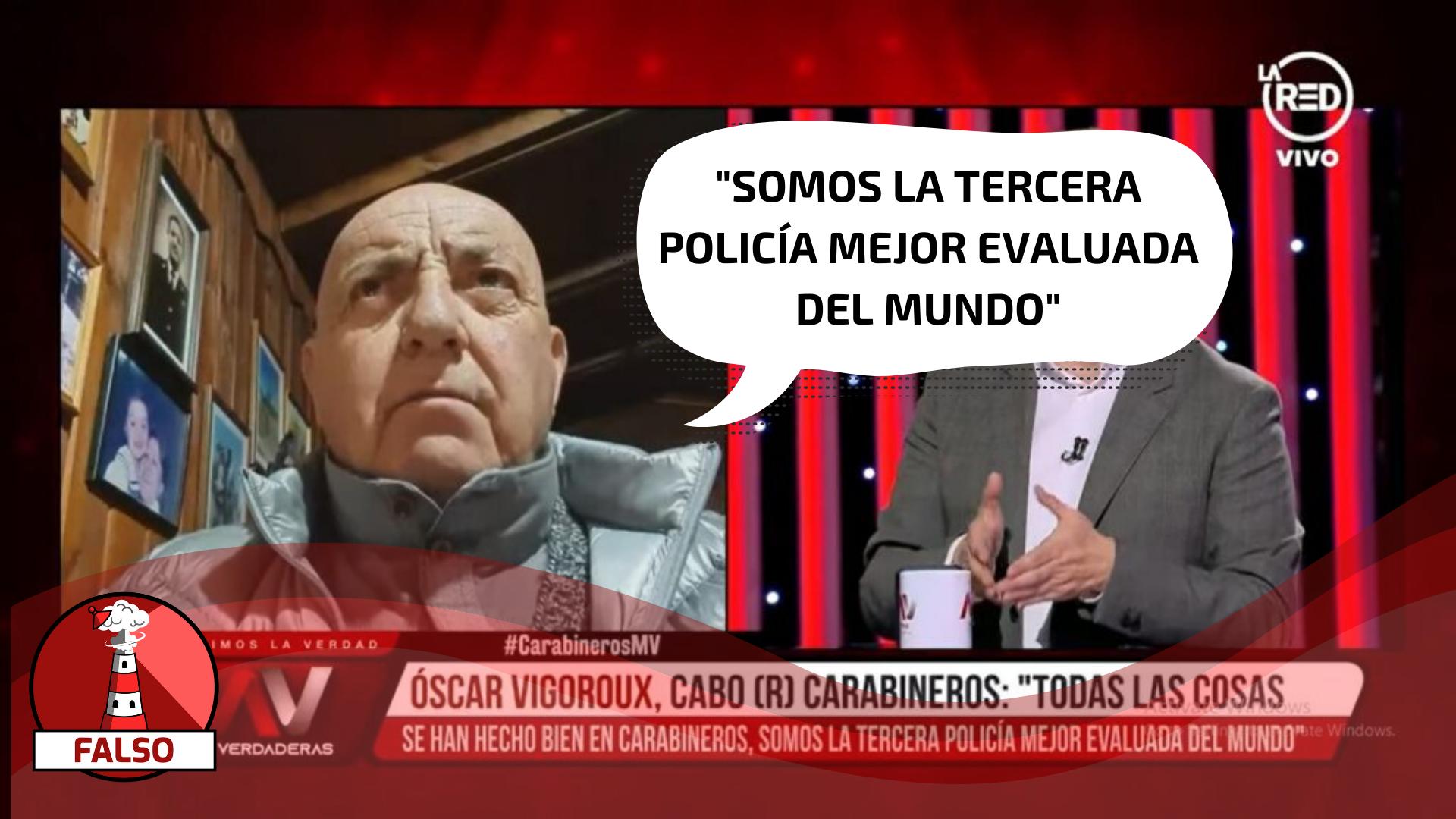 """Read more about the article """"Somos la tercera policía mejor evaluada del mundo"""": #Falso"""