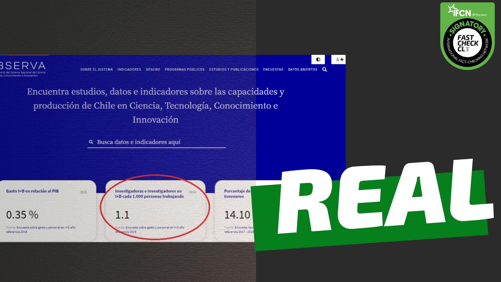 Read more about the article Chile es el segundo país de la OCDE con menos investigadores por cada 1.000 trabajadores: #Real