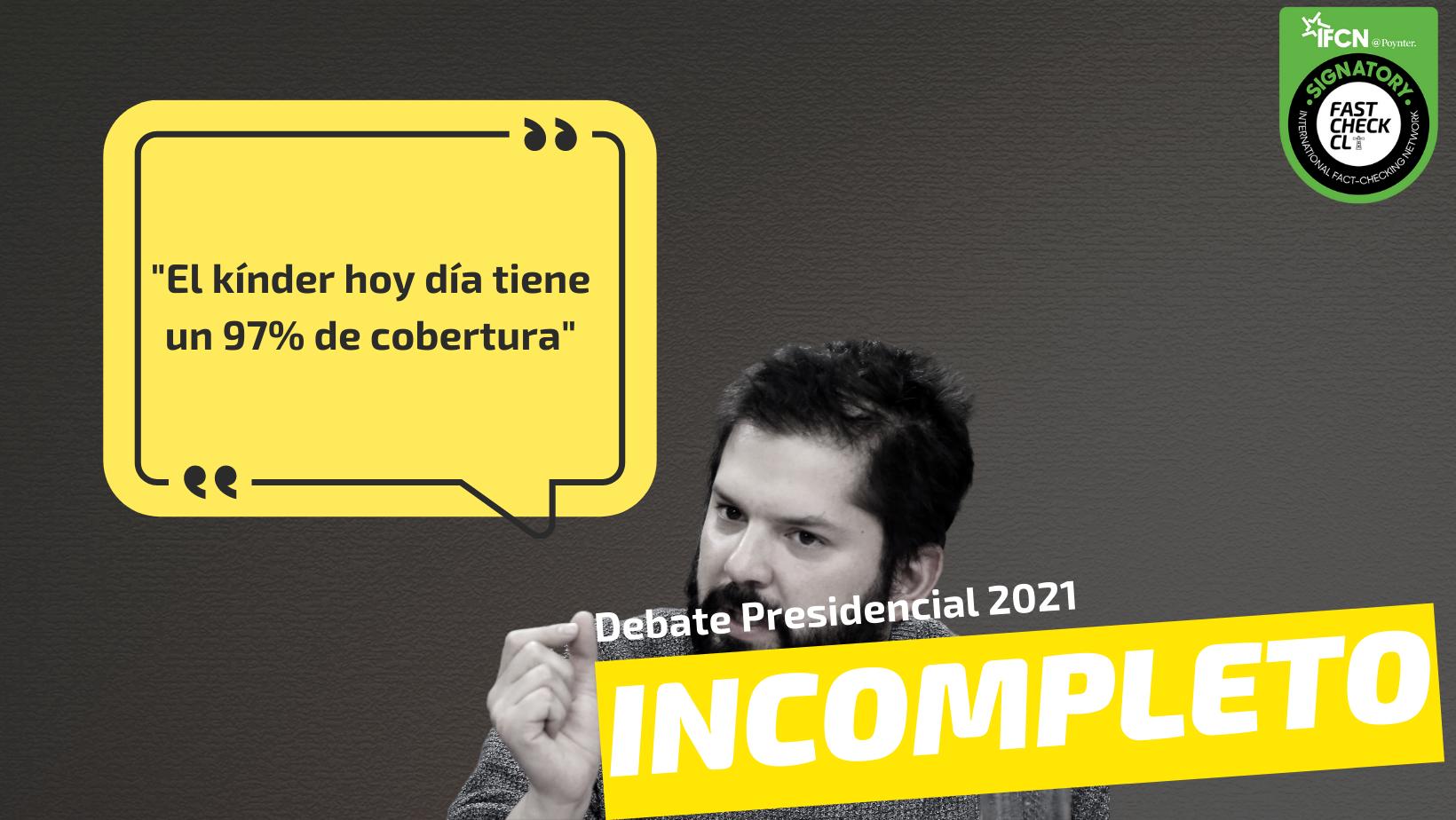 """Read more about the article """"El kínder hoy día tiene un 97% de cobertura"""": #Incompleto"""