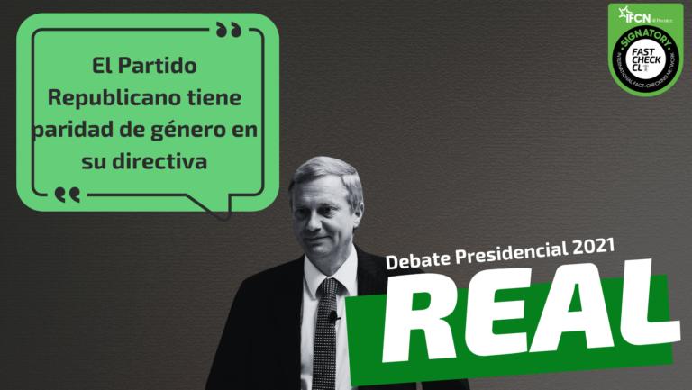 Read more about the article El Partido Republicano tiene paridad de género en su directiva: #Real